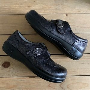 Alegria Crackle Finish Shoes